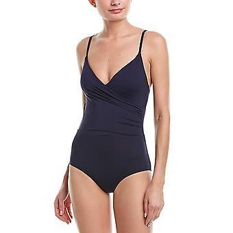 آن كول النساء & s التفاف الملابس الداخلية Maillot قطعة واحدة ملابس السباحة،، البحرية الجديدة، حجم 14.0