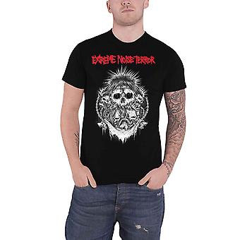 Extreme Noise Terror T Shirt Grinders Inc Band Logo new Official Mens Black