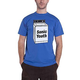 Sonic Youth T Shirt Washing Machine Album Band Logo new Official Mens Blue