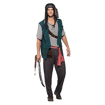 Pánske pirát deckhand maškarný kostým Jack Sparrow