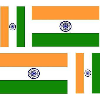 4 X Sticker Sticker Sticker Car Motorcycle Valise Pc Portable Flag India India