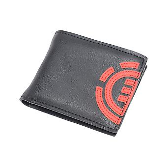 Element Daily Faux Leather Wallet in Original Black