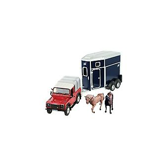 Britains Land Rover Horse Box And Horses Set 43239