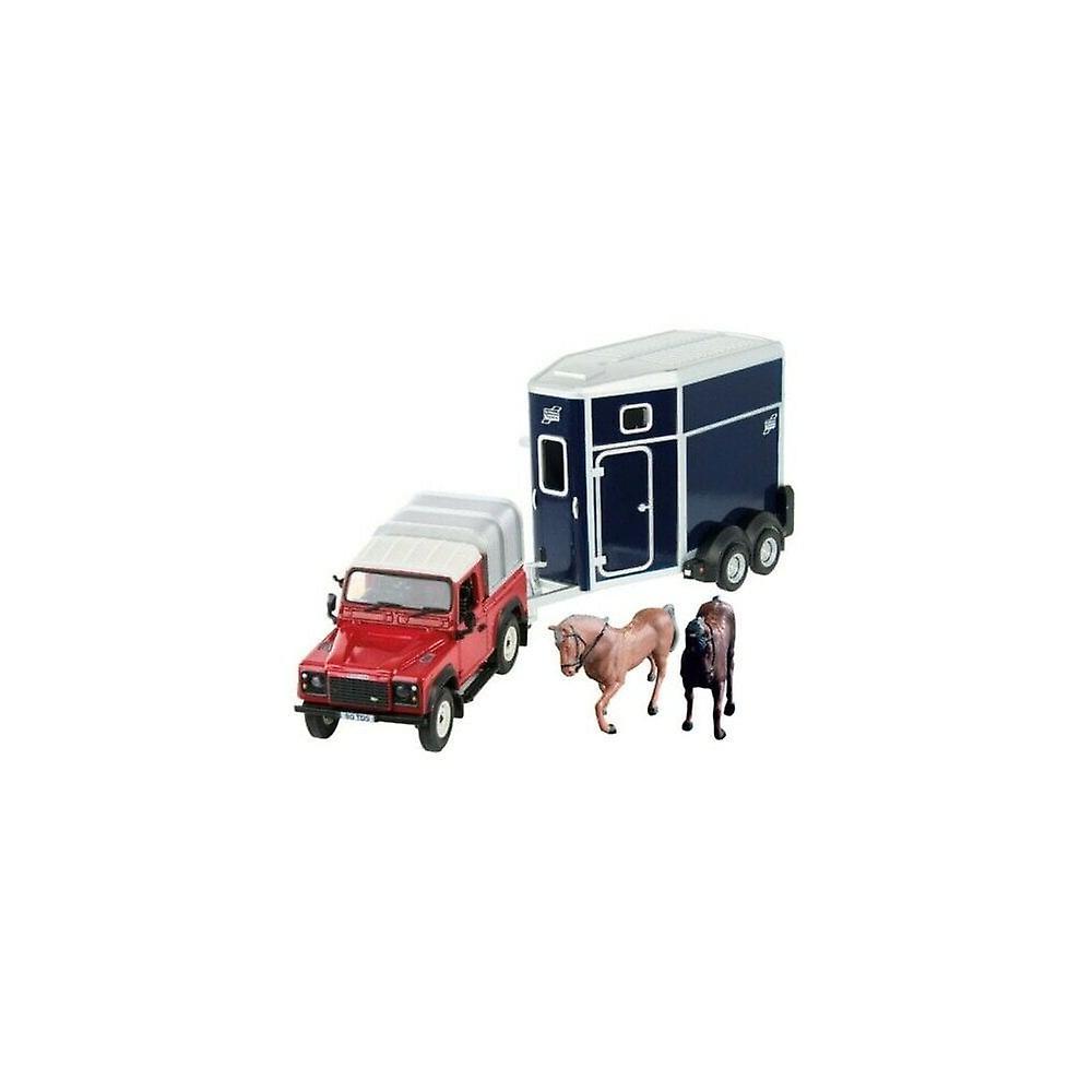 Britains Land Rover Horse Box And Horses Set 43239