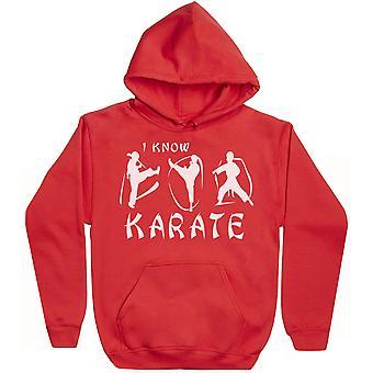 Jag vet Karate-mens hoodie