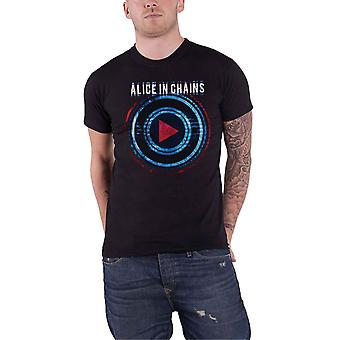 Alice In Chains T Shirt Played Band Logo new Official Mens Black