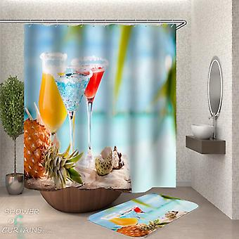 Cocktails On the Beach Shower Curtain