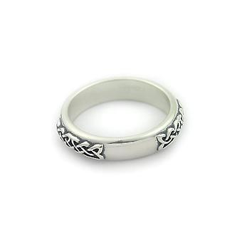 Sterling sølv traditionel skotsk keltisk evighed knotwork design ring