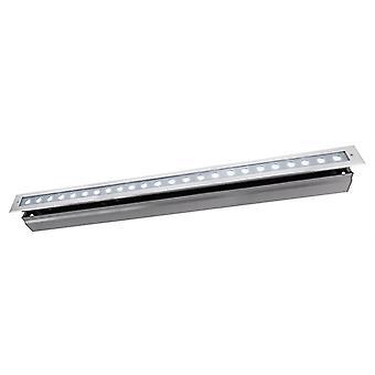 Lampa podłogowa LED wpuszczona linia VI CW 34W 6500 K 20° 1025 mm srebrny IP67
