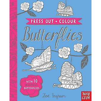 Press Out and Colour Butterflies by Zoe Ingram