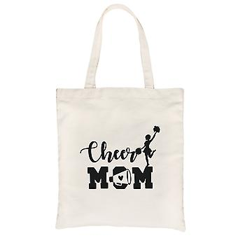 Cheer Mom Canvas Tote Bag Eco-Friendly Best Mother's Day Gift Ideas