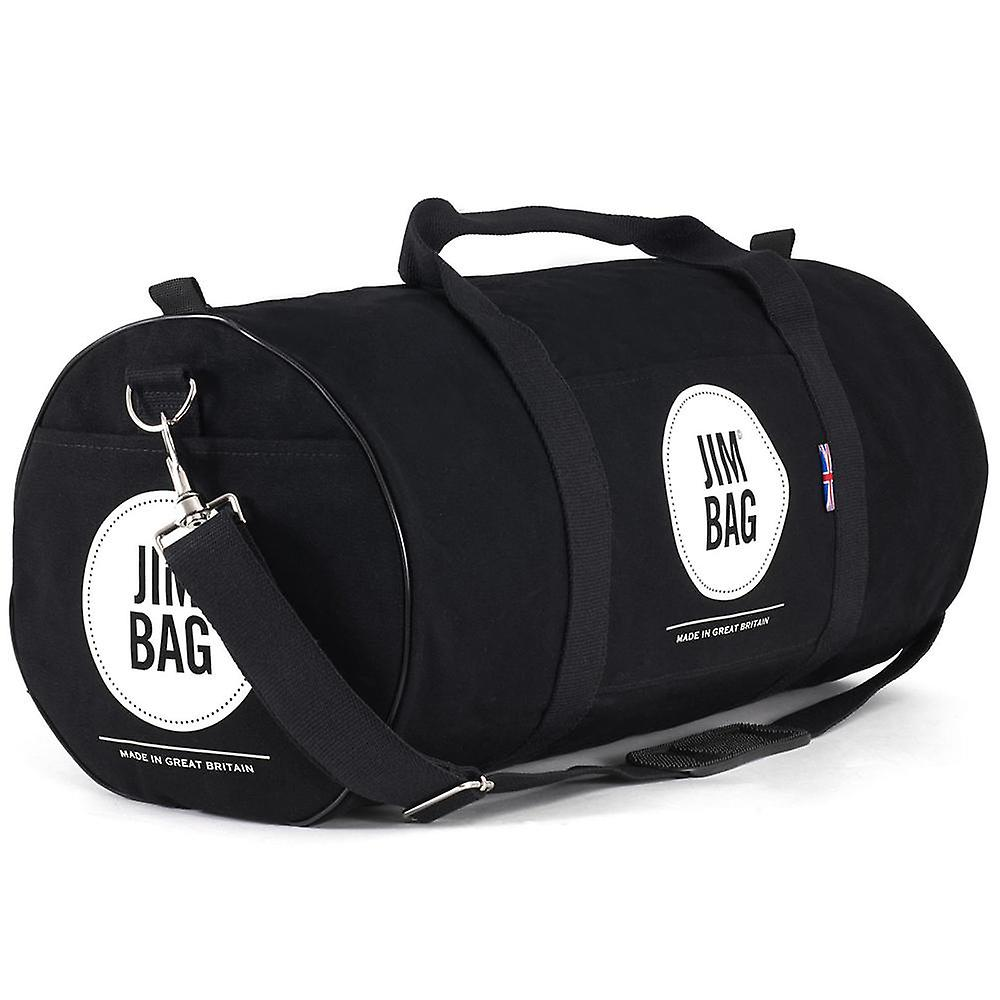 JIMBAG Black & Cream Holdall Sports Fitness Gym Overnight Weekend Travel Bag with Handle & Shoulder Strap