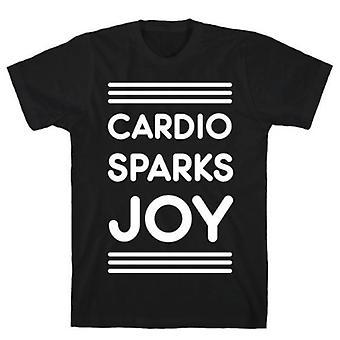 Cardio vonken vreugde zwart t-shirt