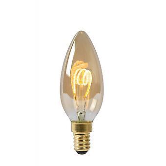 Forma a bulbo LED lucide: Suggerimento candela vetro ambra lampadina