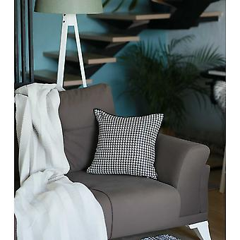 "17""x 17"" Grey Jacquard Decorative Throw Pillow Cover"