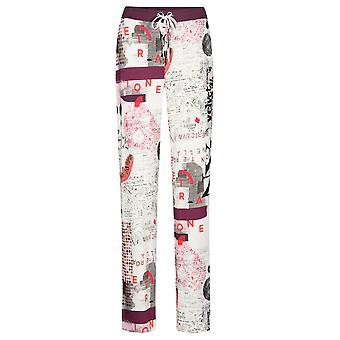 Feraud 3191114-11777 Women's Casual Chic White Multicolour Loungewear Pant