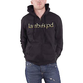 Lamb Of God Hoodie homme groupe logo Anime Officiel New Black Zipped