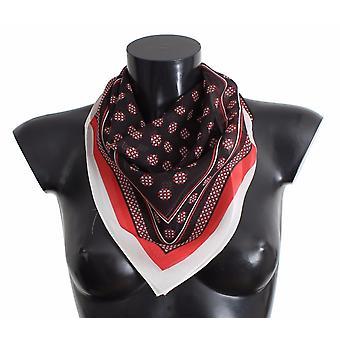 Dolce & Gabbana Red Black Baroque Print Silk Scarf