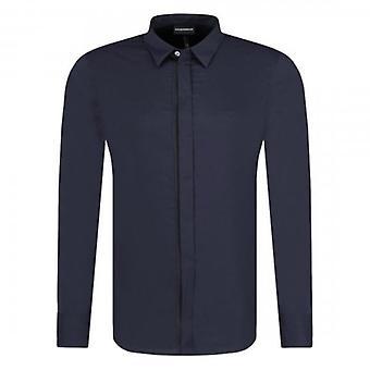Emporio Armani Taped Placket L/S Shirt Navy Blue 3G1CL4 1NHUZ