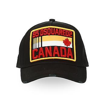DSQUARED2 Dsquared2 | Canada Bcm0237 hevet patch logo baseball cap - svart