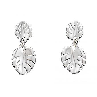 Joshua James Serenity Silver Cheese Plant Stud Earrings