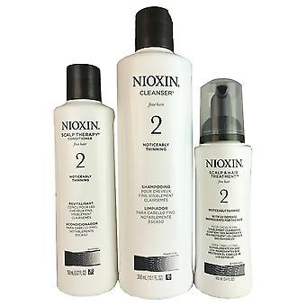 Nioxin kit de pedaço de sistema 2-3 para o cabelo