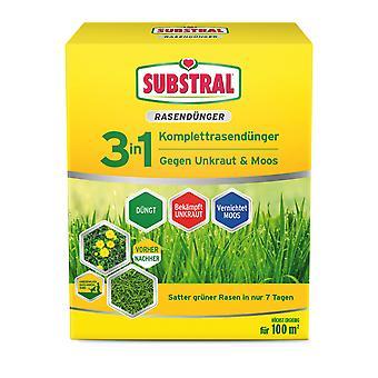 SUBSTRAL® 3in1 Fertilizzante completo da prato, 3,6 kg per 100 m2