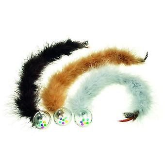 Karlie Flamingo Ball Rattle with tail and feather (Cats , Toys , Plush & Feather Toys)