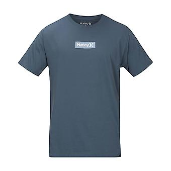 Hurley Men's T-Shirt ~ One & Only Small Box blue