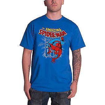 أعجوبة كاريكاتير سبيدي ختم الرسمية الرجال قميص الأزرق الجديد تي