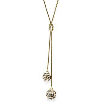 Crystal Mesh Ball Pendant Necklace PMB112.7