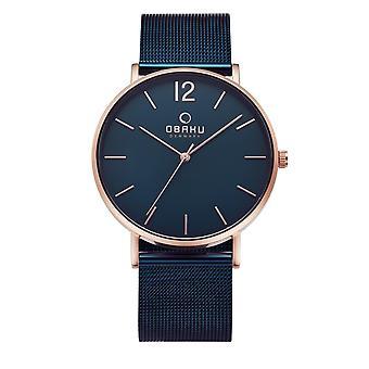 Obaku Mark Ocean Men-apos;s Blue Mesh Wristwatch V197GXVLML
