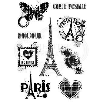 Woodware Clear Stamp Set - Paris Elements