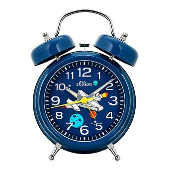 s.Oliver Alarm Clock Analog Alarm Light Kids Boys Spaceship SO-3962-CQ