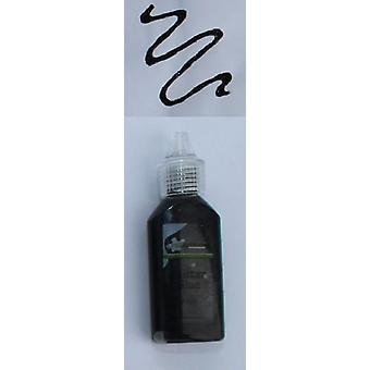 CraftEmotions Glitter lijm zwart 20 ml