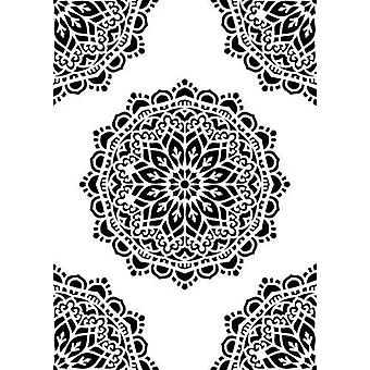Nellie's Choice Plastic Mixed media stencil A5 - pattern-7 NMMS024 A5