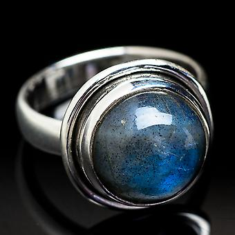 Labradorite Ring Size 3.75 (925 Sterling Silver)  - Handmade Boho Vintage Jewelry RING3744