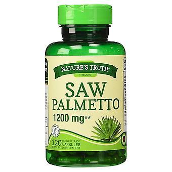 Nature's waarheid zag palmetto, 1200 mg, quick release capsules, 120 ea