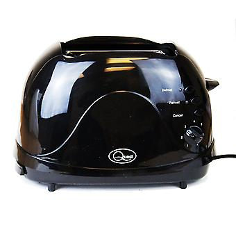 Quest Black 2-Slice Toaster H: 16 cm W: 25 cm D: 14.5 cm