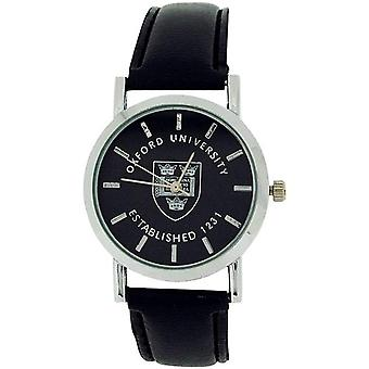 Licensed Oxford University EST 1231 Black Dial Black PU Strap Watch OU01B