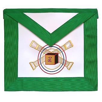 Masonic scottish rite leather masonic apron - aasr - 5th degree