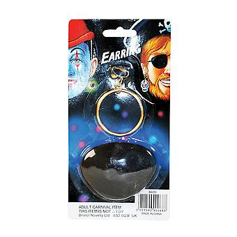 Bristol Novelty Pirate Clip On Earring And Eye Patch Accessories Set