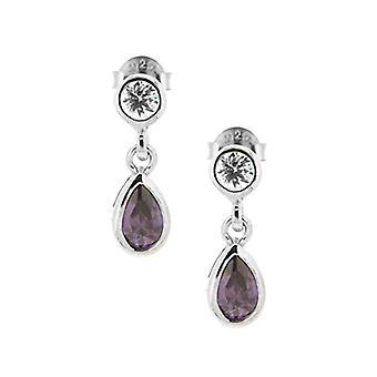 Bijoux pour Tous Donna Argent 925 Silver purple pear zirconium oxide