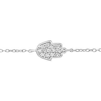 Hamsa - 925 Sterling Silver Chain Bracelets - W18621x