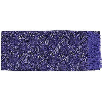 Michelsons of London All Over Paisley Silk Scarf - Purple