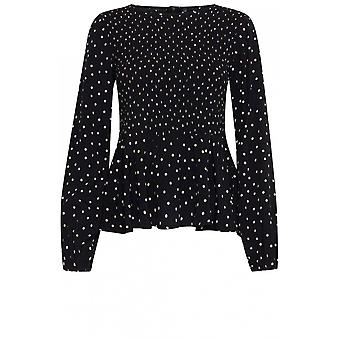 b.young Spot Print Blouse