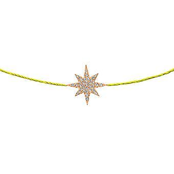 Choker Stella 18K Or et Diamants, sur Thread - Rose Gold, NeonYellow