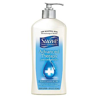 Suave advanced therapy body lotion with rich hydrators, 18 oz