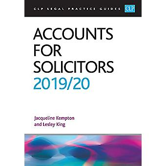 Accounts for Solicitors 2019/2020 by Professor Lesley King - 97819123