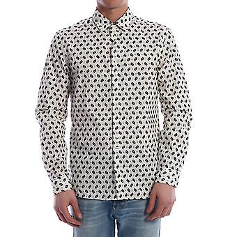 Kenzo Fa55ch2001kc02 Men's White Cotton Shirt